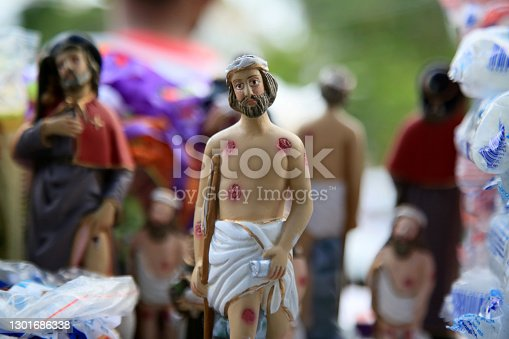 salvador, bahia, brazil - january 31, 2021: image of the saint catholic saint lazaro is seen in the city of Salvador.