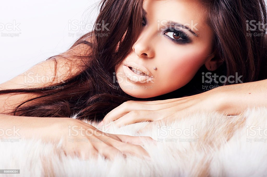 Image of Sexy woman lying down royalty-free stock photo