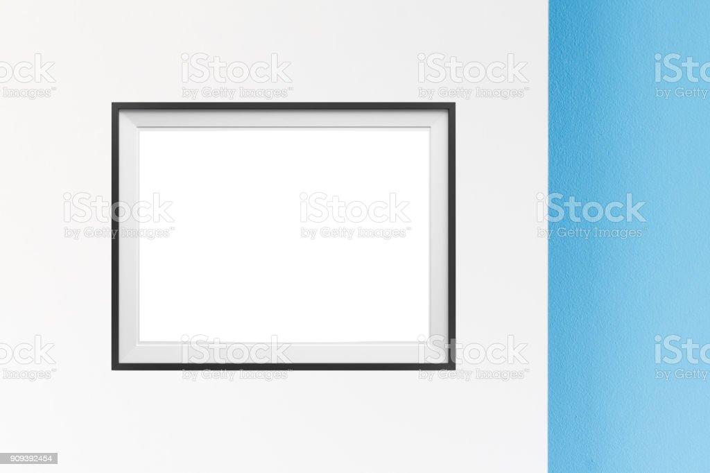 Image of simple poster frame mockup scene. stock photo
