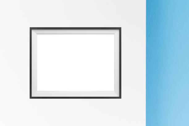 Image of simple poster frame mockup scene. – zdjęcie