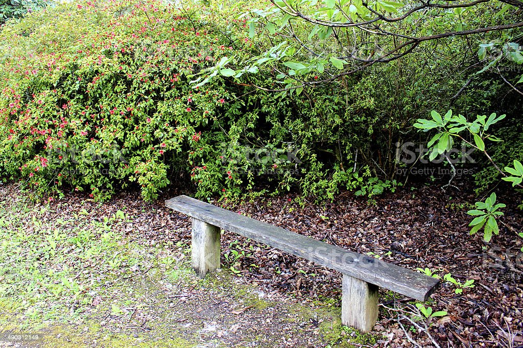Amazing Image Of Simple Rustic Garden Bench Wooden Posts And Plank Caraccident5 Cool Chair Designs And Ideas Caraccident5Info