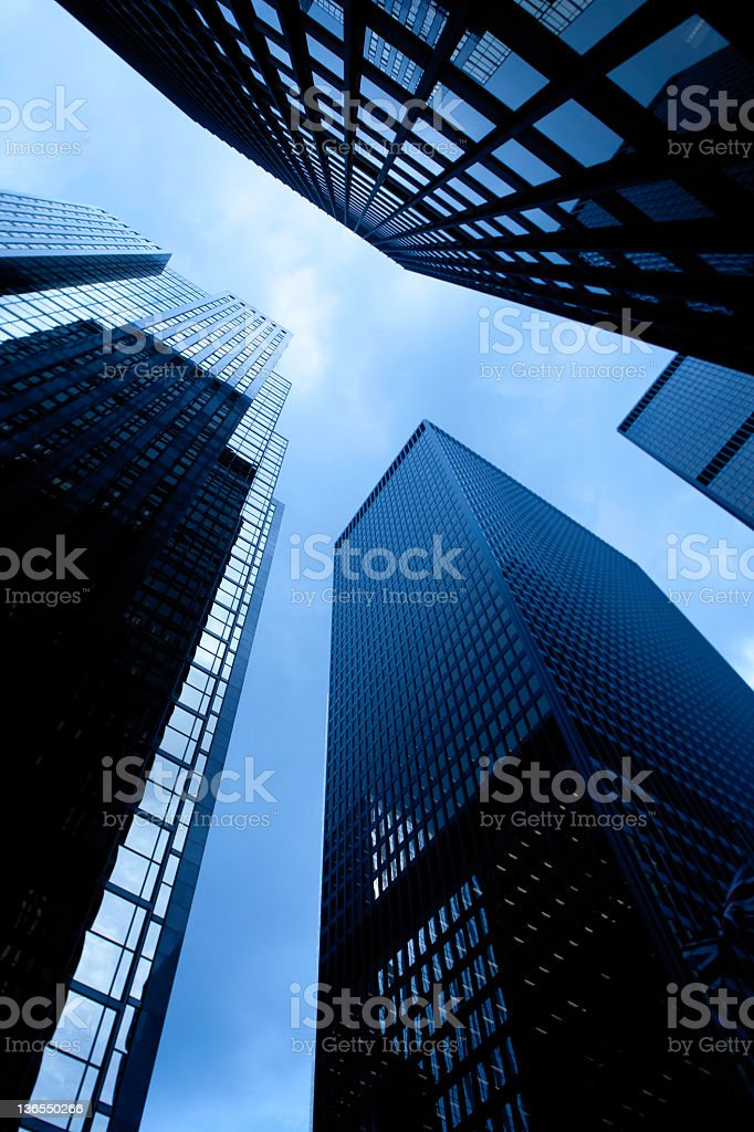 Image of skyscrapers from below royalty-free stock photo