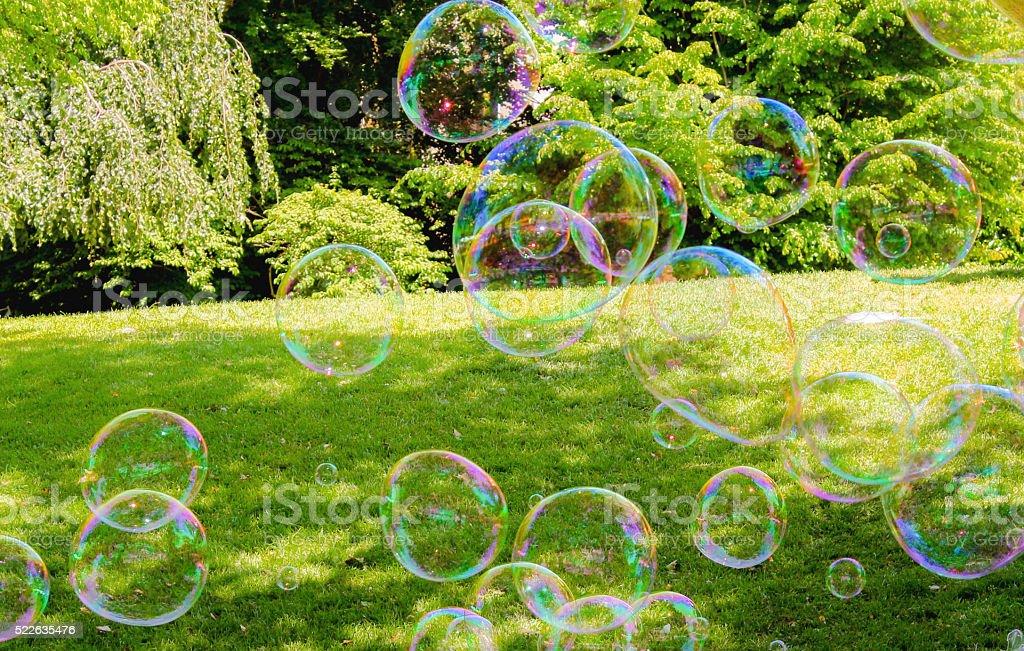 Image of soap bubble stock photo