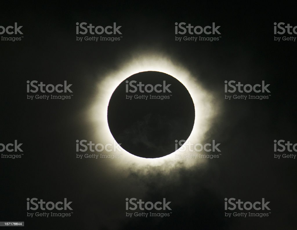 Image of Solar eclipse and total blackout stock photo
