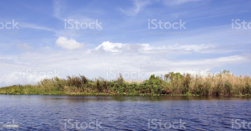 DSLR image of St. John's River, Orlando, Florida stock photo