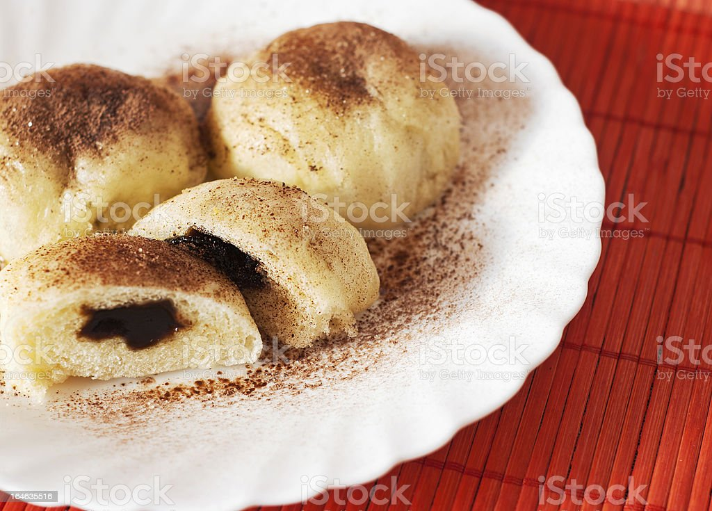Image of steamed buns royalty-free stock photo