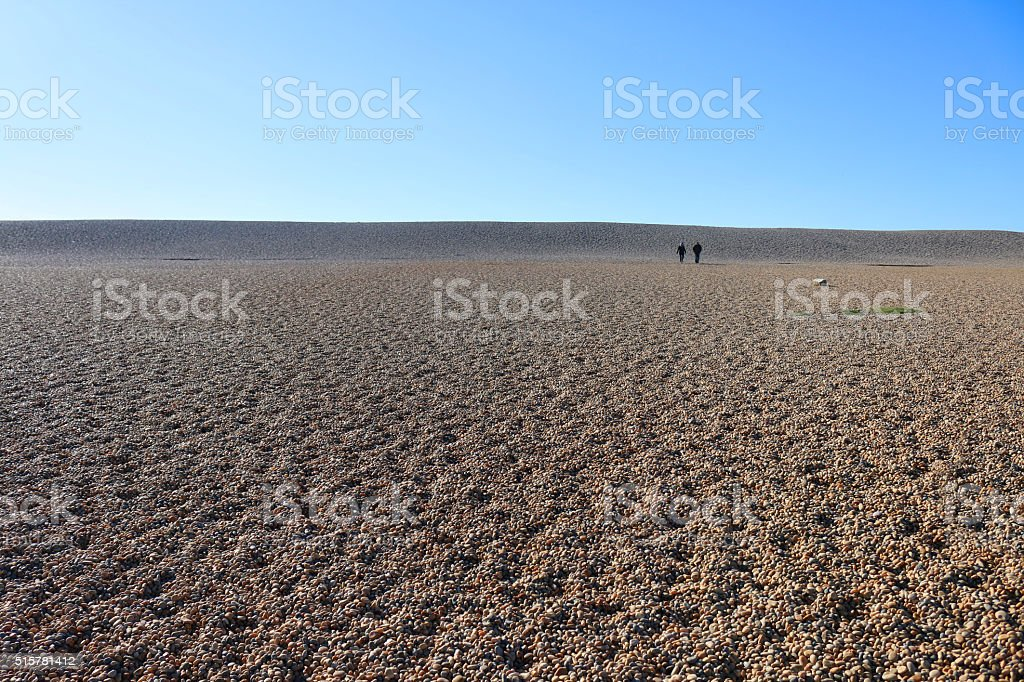 Image of stretch of pebble beach , Chesil Bank, Dorset , England stock photo
