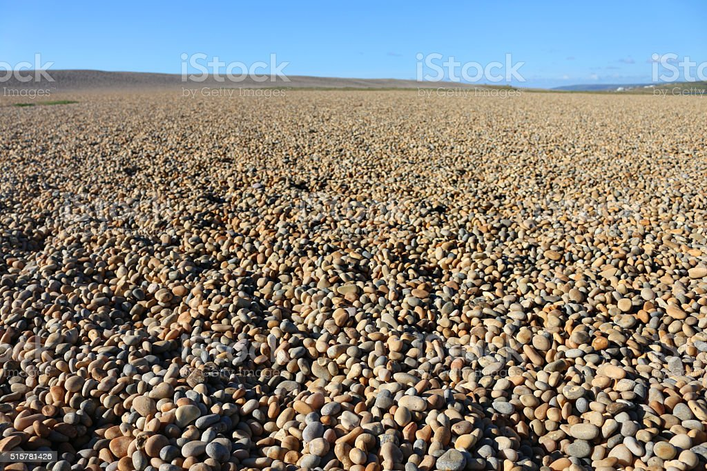 Image of stretch of shingle at Chesil Beach, Dorset, England stock photo