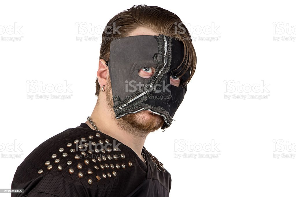 Image of the angry man looking at camera stock photo