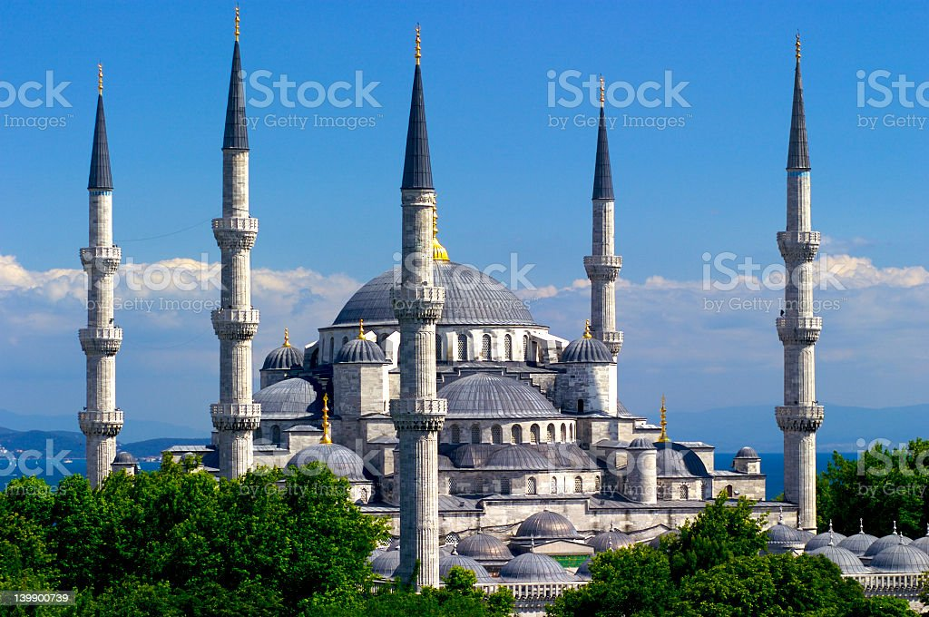 Image of The Blue Mosque on a sunny day stock photo