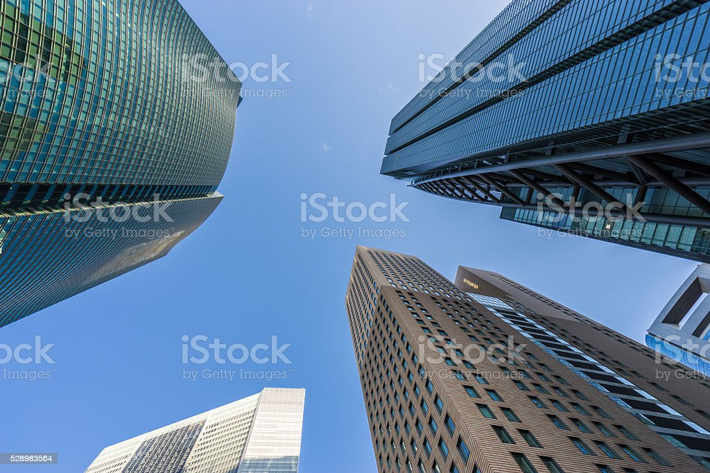 Image of the Japanese business area stock photo