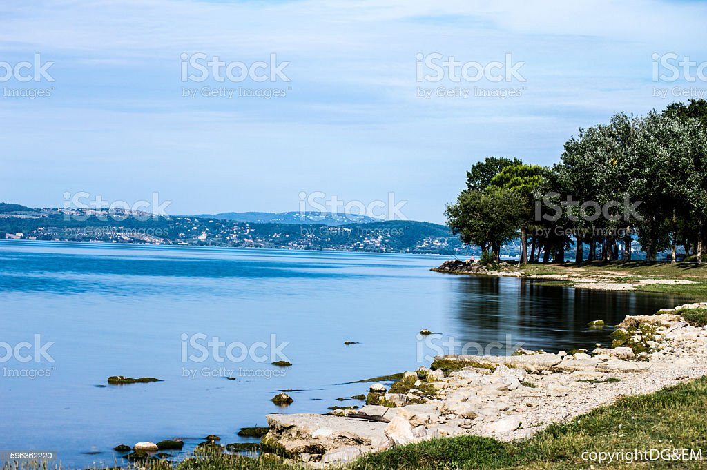 Image of Trasimeno Lake royalty-free stock photo