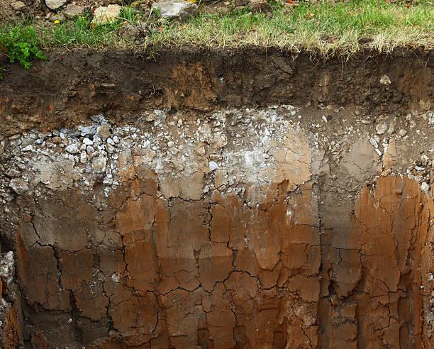 imagen del metro capas de suelo - pedazos de tierra fotografías e imágenes de stock