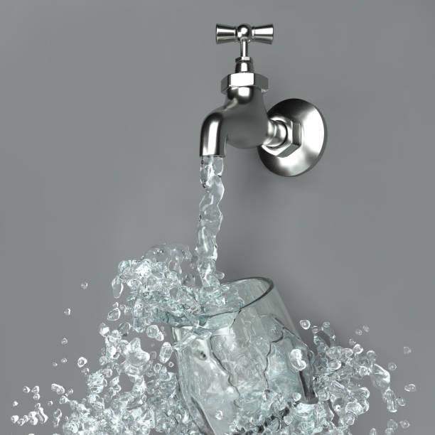 Image 3D de l'éclaboussure d'eau - Photo