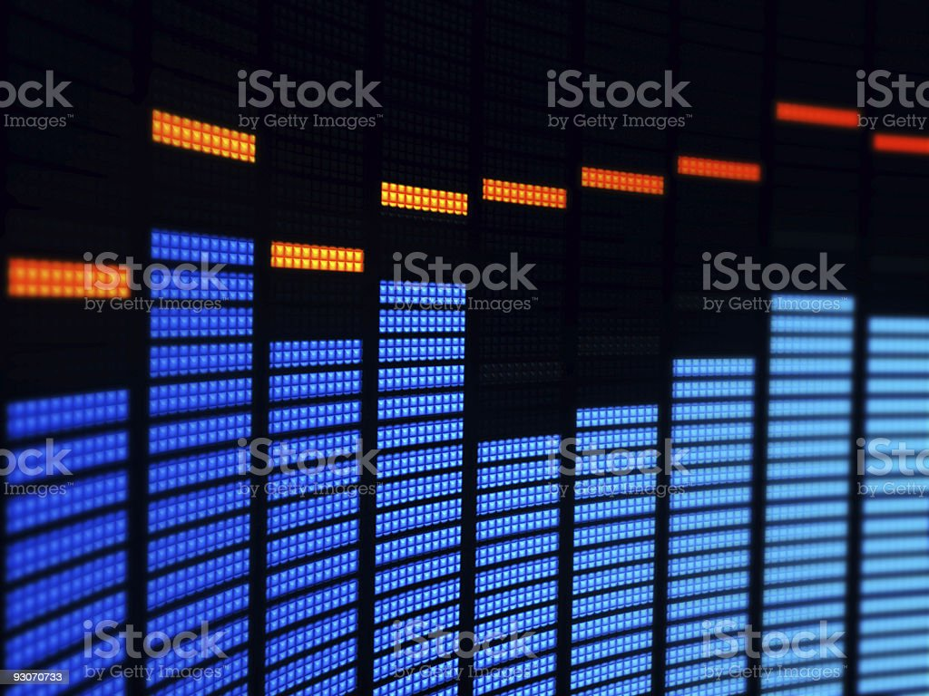 Image of waves of a digital equalizer stock photo