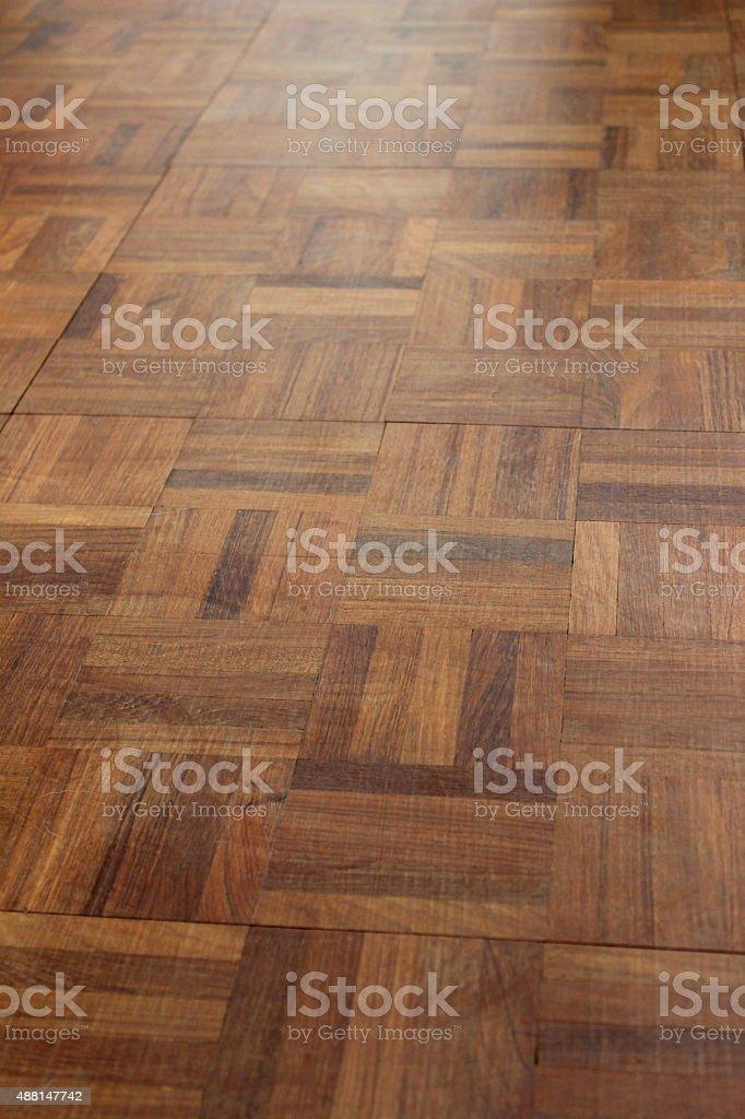 Image Of Wooden Parquet Flooring Squares Varnished Wood Floor Tiles