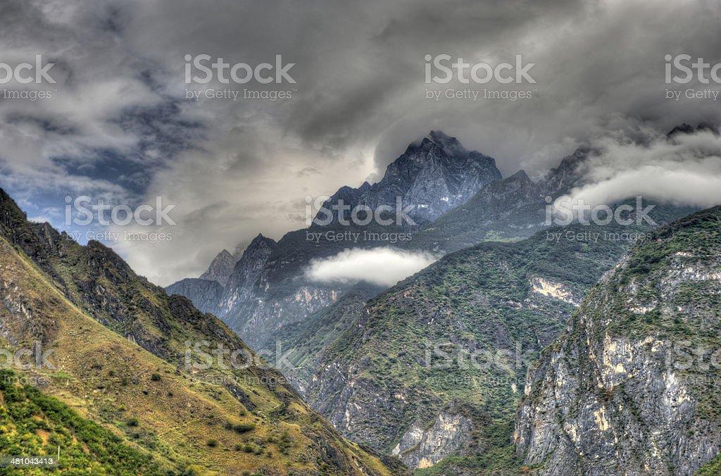 HDR image of Yangzi gorge in China stock photo