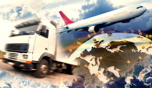 Image related to logistic and transport of goods stock photo