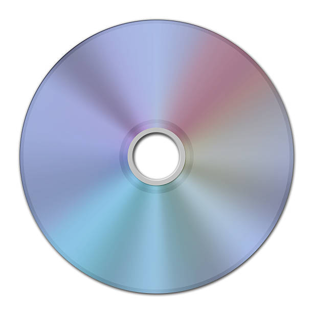 2D image texture of a CD or Compact Disc stock photo
