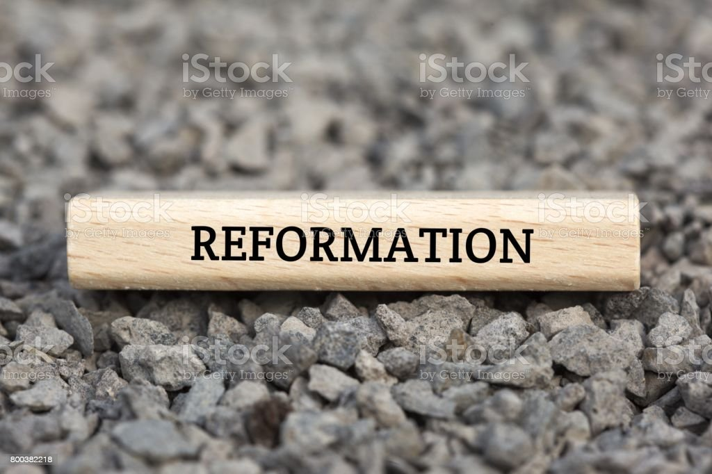 REFORMATION - image with words associated with the topic IMPEACHMENT, word cloud, cube, letter, image, illustration stock photo