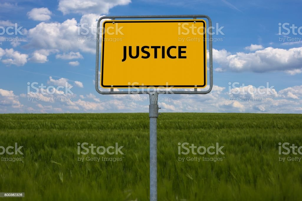 JUSTICE - image with words associated with the topic IMPEACHMENT, word cloud, cube, letter, image, illustration stock photo