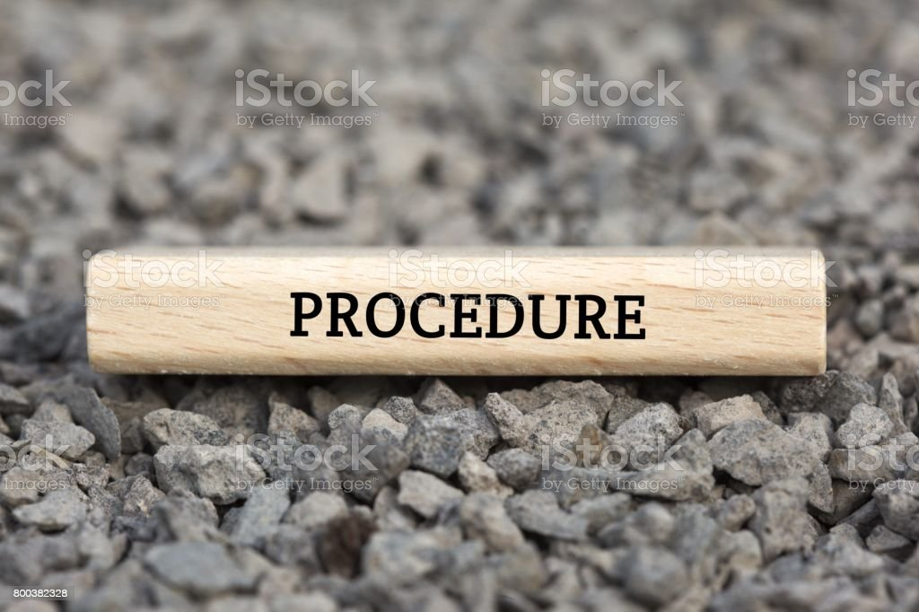 PROCEDURE - image with words associated with the topic IMPEACHMENT, word cloud, cube, letter, image, illustration stock photo