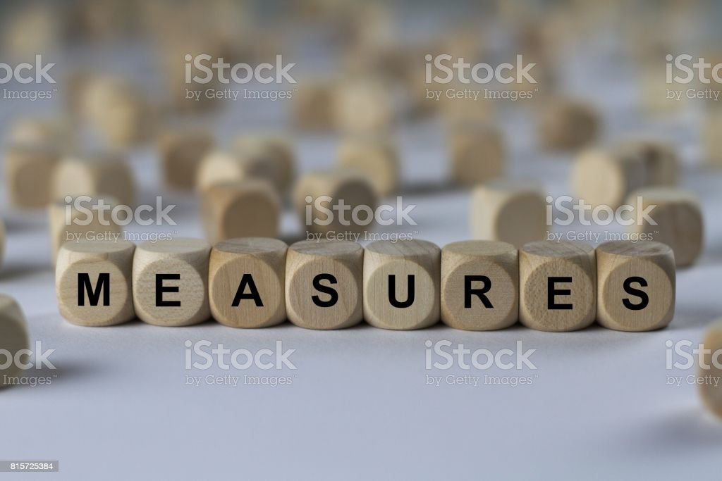 MEASURES - image with words associated with the topic RECRUITING, word, image, illustration stock photo