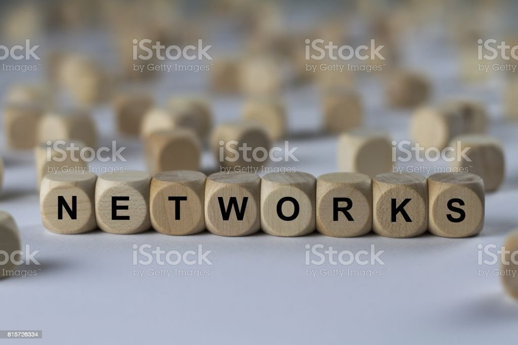 NETWORKS - image with words associated with the topic RECRUITING, word, image, illustration stock photo