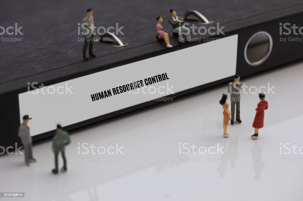HUMAN RESOURCES CONTROL - image with words associated with the topic RECRUITING, word, image, illustration stock photo