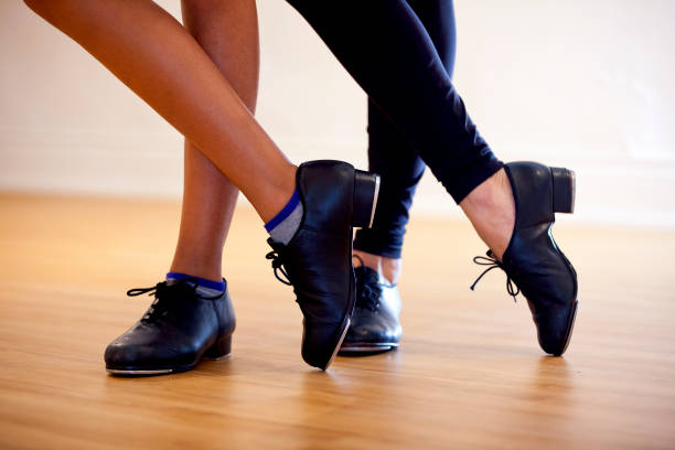 Images from a Dance Studio Tap dance and ballet moments to be used with dance studios. dance studio stock pictures, royalty-free photos & images
