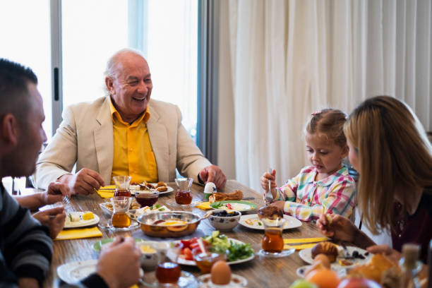 Images of a Domestic Life of A Cute Family stock photo