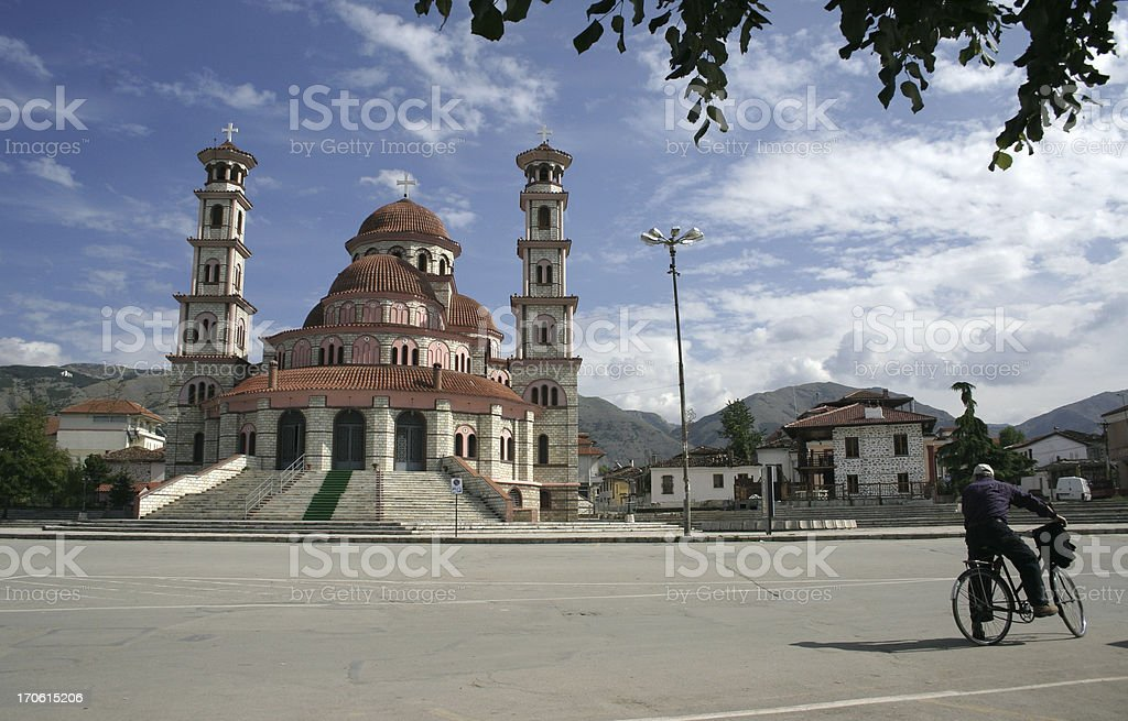 Images of Albania | Square in Korcha royalty-free stock photo