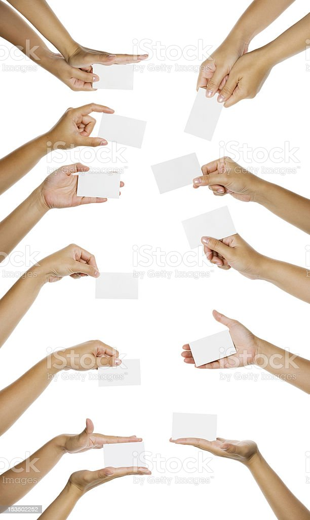 Images Of Hand Giving Namecard royalty-free stock photo