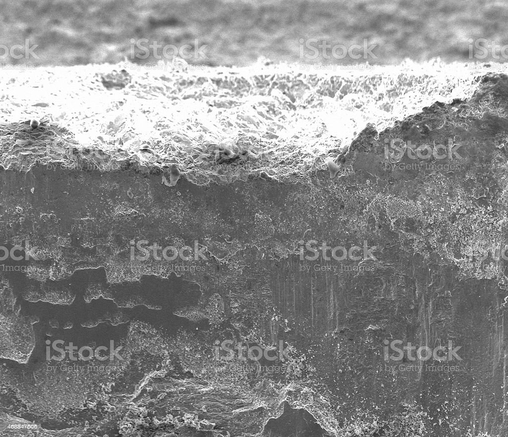 SEM images of steel stock photo