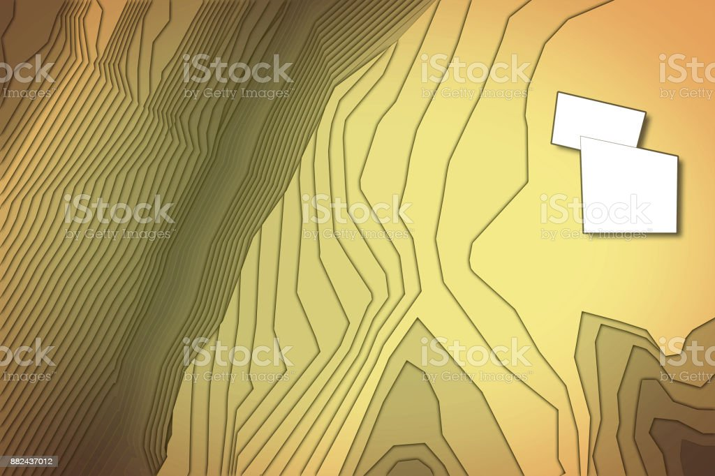 Imaginary cadastral map of territory with relief map - concept image stock photo