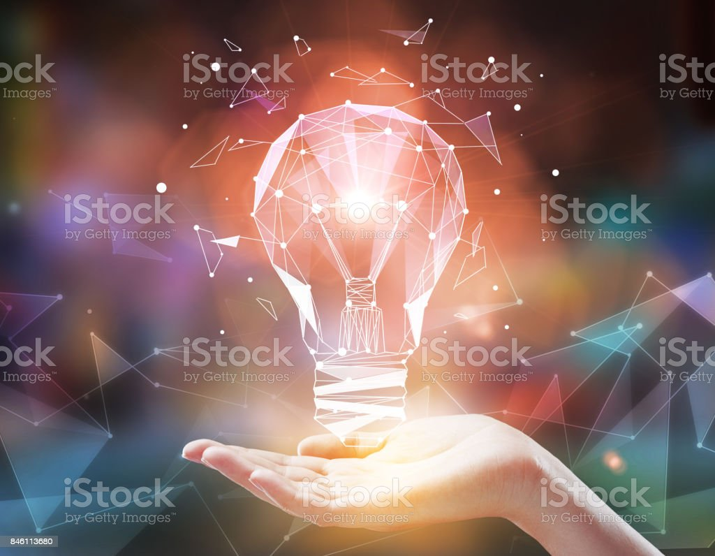 Imagination and technology concept stock photo