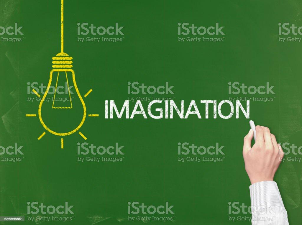 Imagination - Business Chalkboard Background foto stock royalty-free