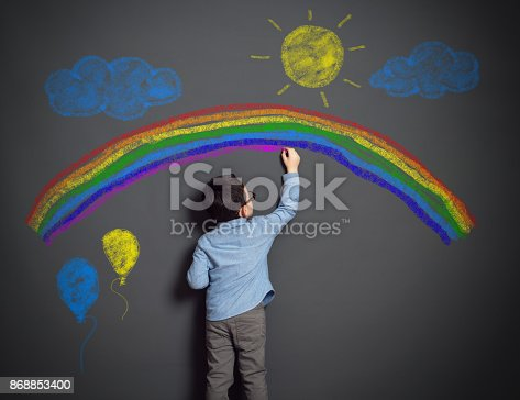 istock Imagination of little child 868853400
