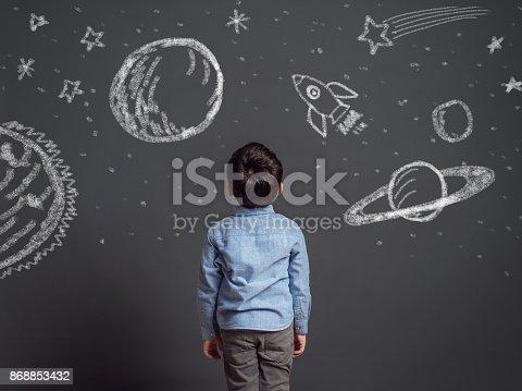 istock Imagination of little child 868853432