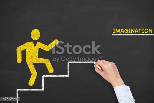 istock Imagination Steps on Chalkboard 497124442