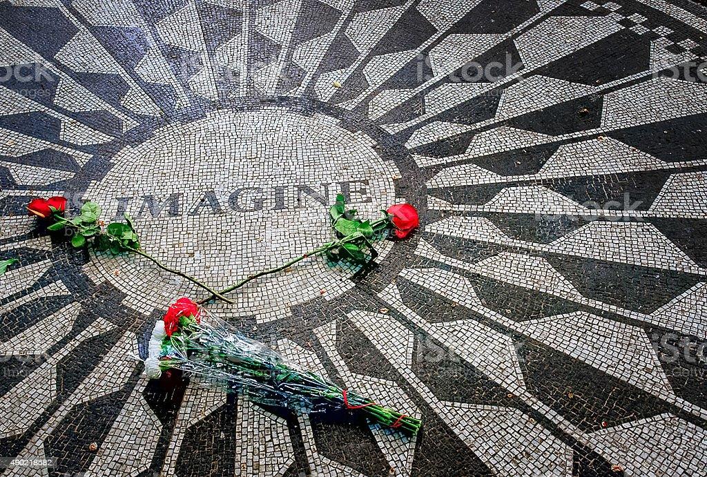 Imagine Memorial in Strawberry Fields stock photo