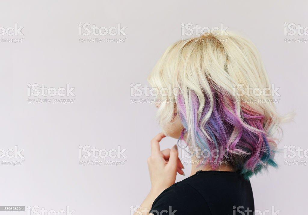 Menina imaginada - foto de acervo