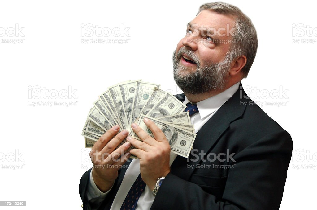 Imagining What To Do With The Money I Saved royalty-free stock photo