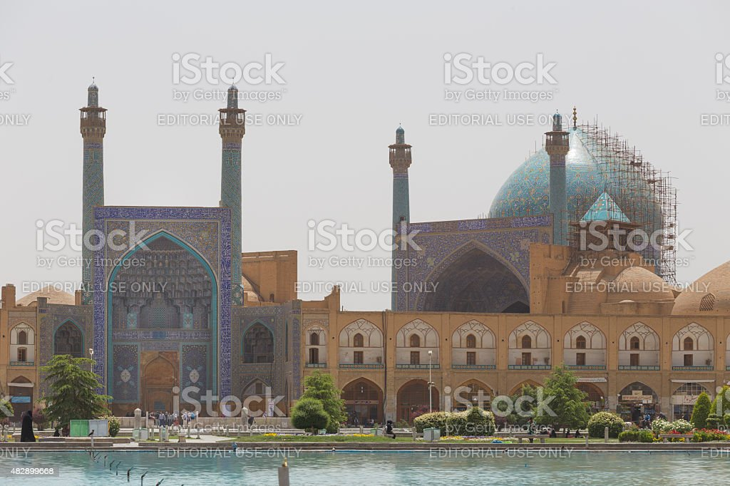 Imam Mosque at Naghsh-e Jahan Square in Isfahan, Iran stock photo