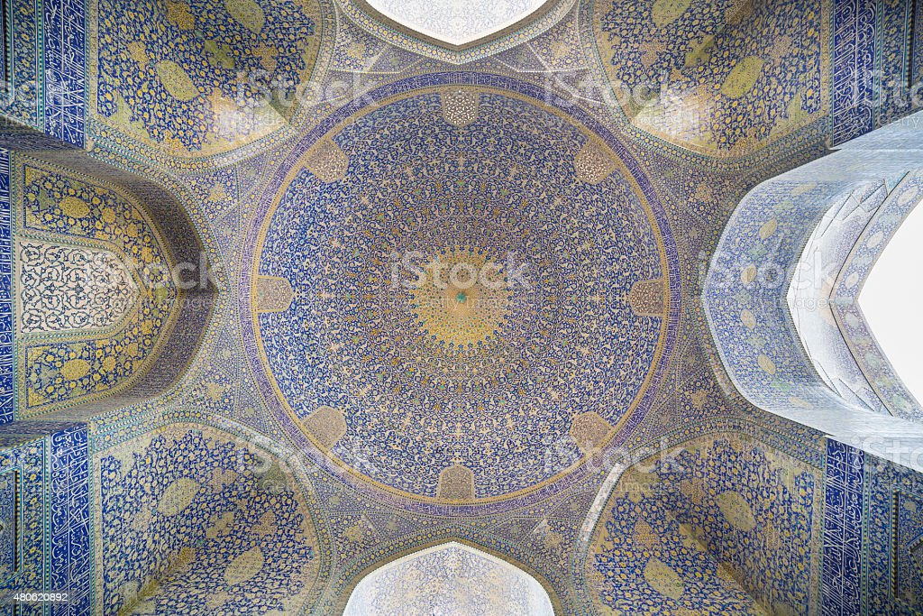 Imam Mosque (Masjed-e Imam)  in Isfahan, Iran stock photo