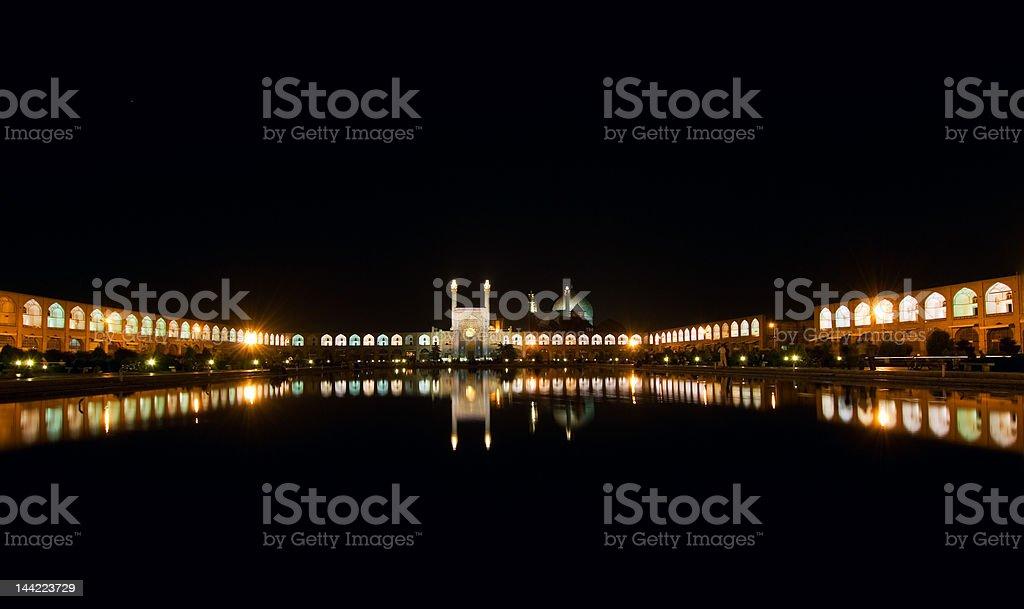 Imam Square at night, Isfahan, Iran royalty-free stock photo