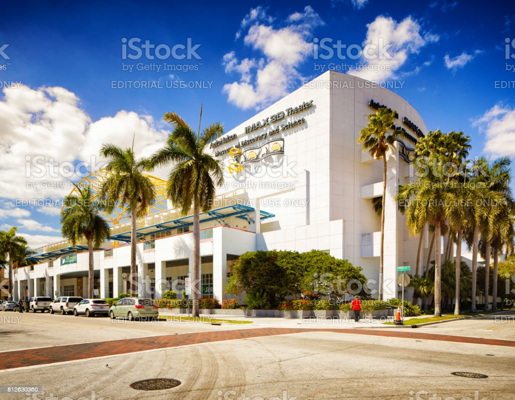 Imax theater at Museum of discovery and science in Fort Lauderdale Florida stock photo