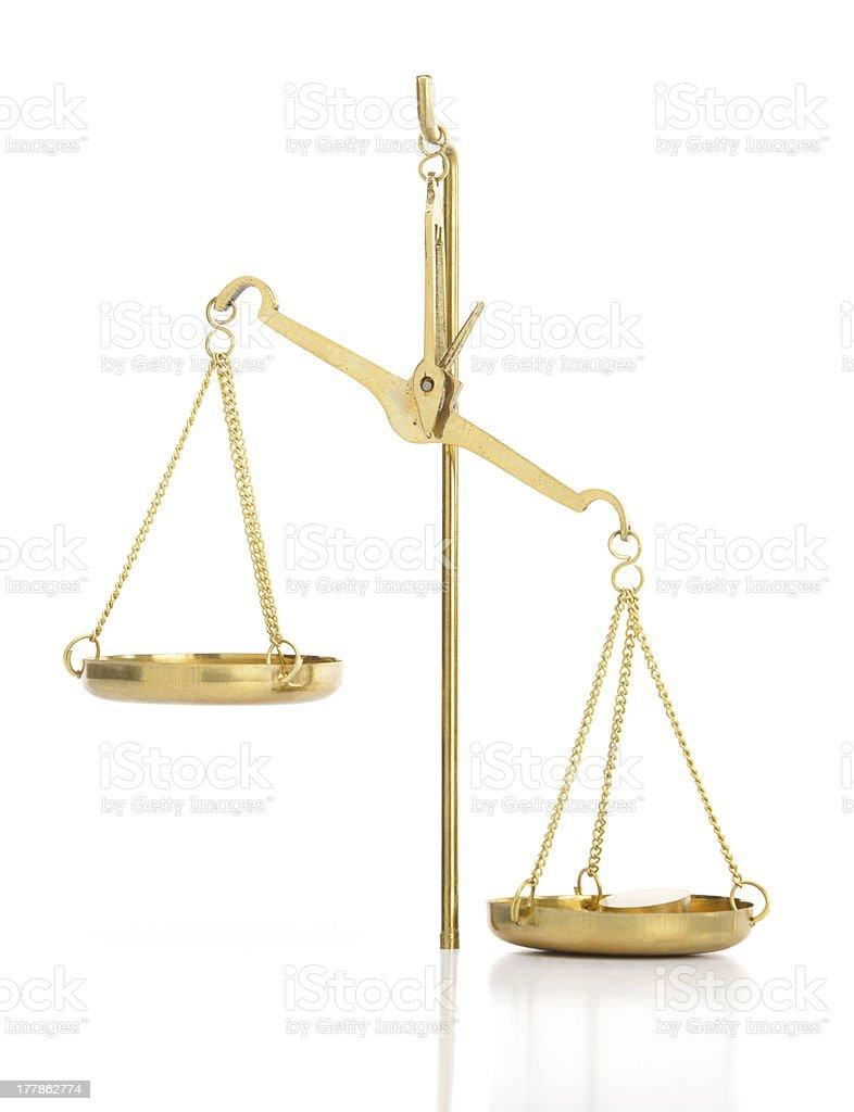 Imbalance royalty-free stock photo