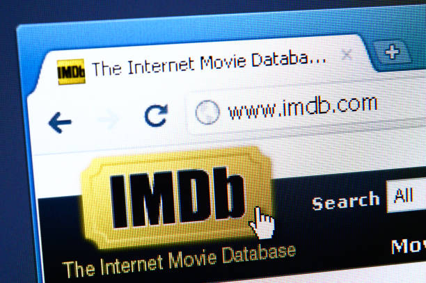 IMDb webpage on the browser stock photo