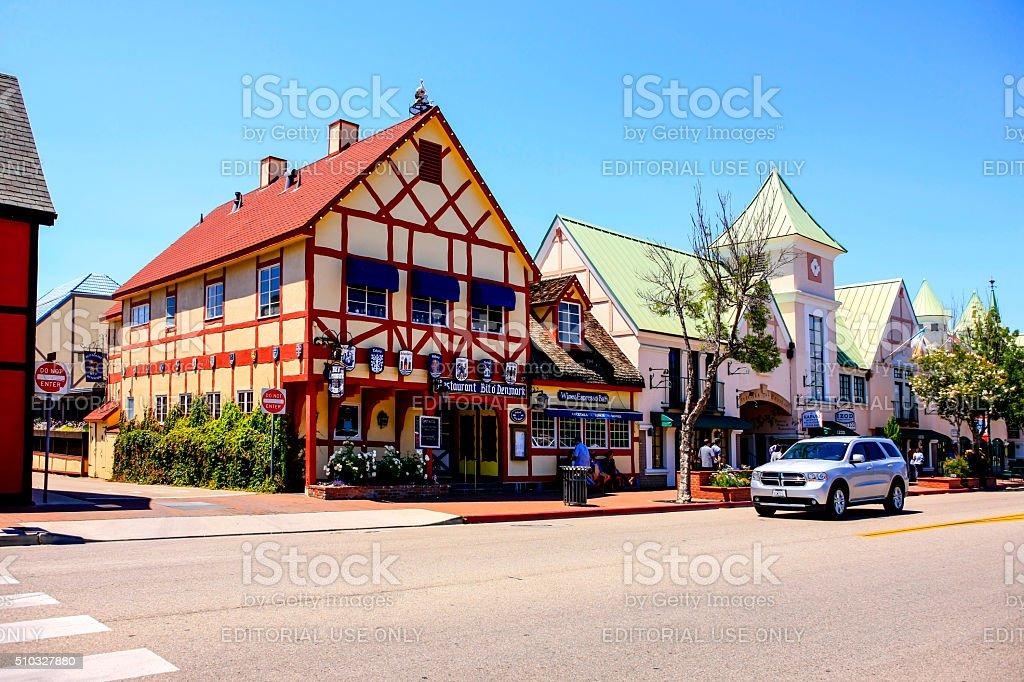 Imitation Danish town of Solvang in California stock photo